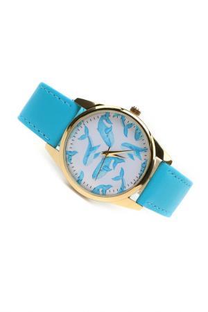 Часы Много китов MITYA VESELKOV. Цвет: голубой