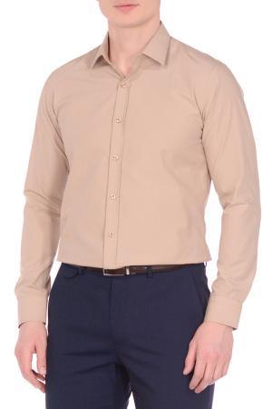 Рубашка KarFlorens. Цвет: бежевый