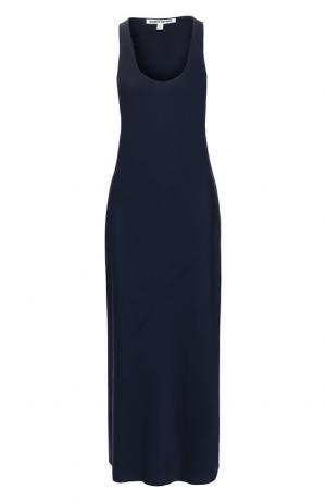 Однотонное платье свободного кроя Elizabeth and James. Цвет: темно-синий
