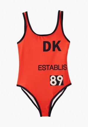 Купальник DKNY. Цвет: оранжевый