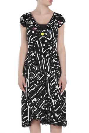Платье Maria Grazia Severi. Цвет: черный