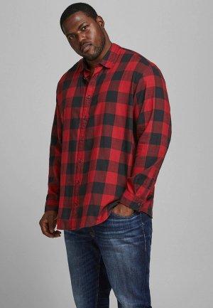 Рубашка Jack & Jones. Цвет: красный