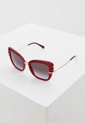 Очки солнцезащитные Dolce&Gabbana. Цвет: красный
