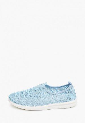 Слипоны Trien. Цвет: голубой