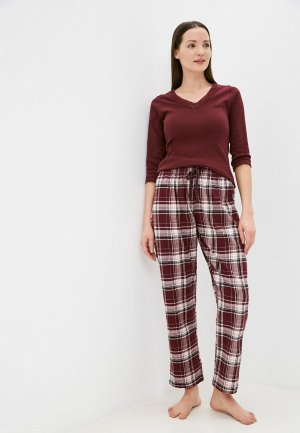 Пижама Dorothy Perkins. Цвет: бордовый