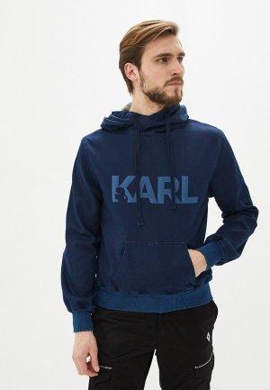 Худи Karl Lagerfeld Denim. Цвет: синий