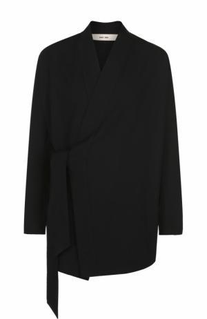 Хлопковый пиджак свободного кроя Damir Doma. Цвет: черный