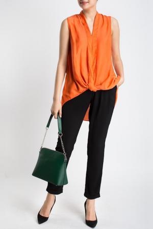 Блузка LA REINE BLANCHE. Цвет: оранжевый