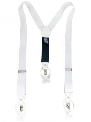 Adjustable fit braces Hackett. Цвет: белый