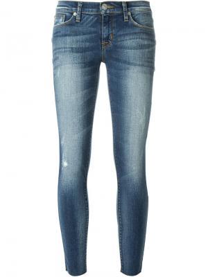 Укороченные джинсы кроя скинни Hudson. Цвет: синий