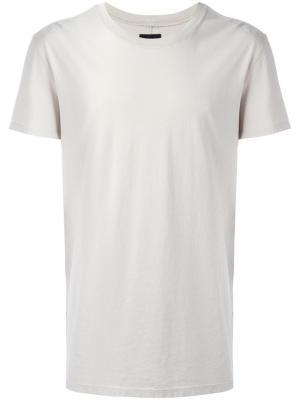 Удлиненная футболка Hudson. Цвет: телесный
