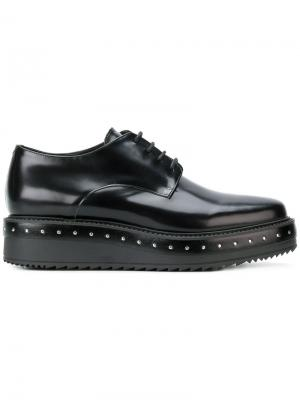 Туфли на платформе с заклепками Albano. Цвет: чёрный