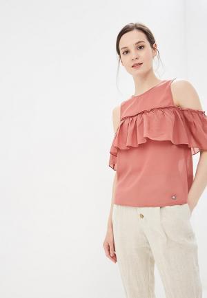 Блуза Motivi. Цвет: коралловый