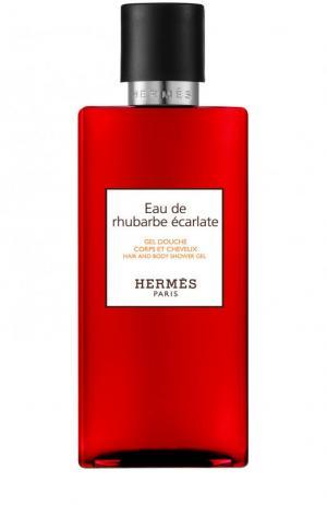 Гель для душа Eau de rhubarbe ècarlate Hermès. Цвет: бесцветный