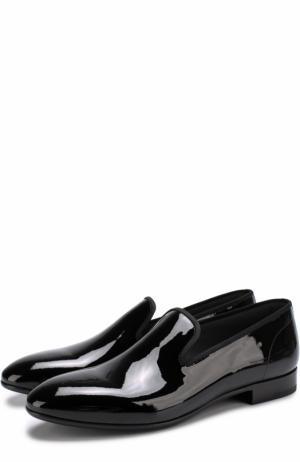 Классические лаковые слиперы Dior. Цвет: черный