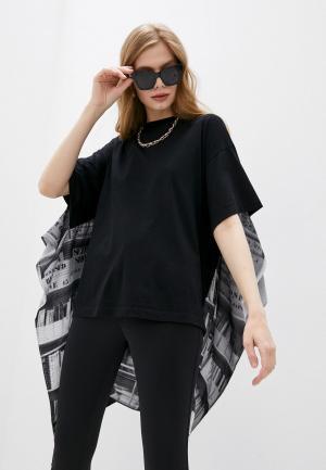 Блуза MM6 Maison Margiela. Цвет: черный