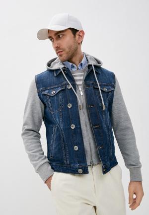 Куртка джинсовая Eleventy. Цвет: синий