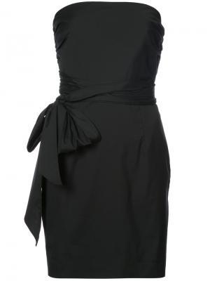 Платье с запахом без рукавов Milly. Цвет: чёрный