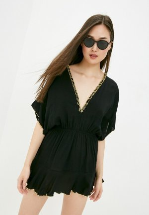 Платье пляжное Luli Fama. Цвет: черный