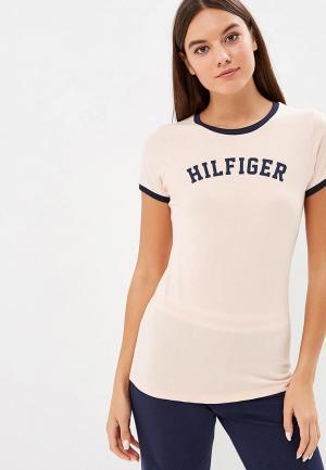 Футболка домашняя Tommy Hilfiger. Цвет: розовый
