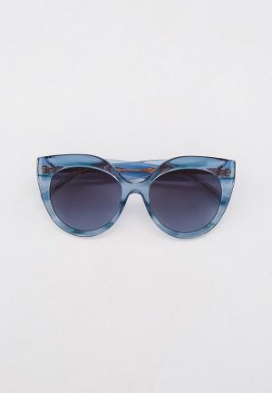 Очки солнцезащитные Elie Saab. Цвет: голубой