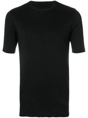 Вязаная футболка с круглым вырезом Kris Van Assche. Цвет: чёрный