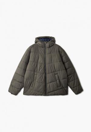 Куртка утепленная Replika Jeans. Цвет: хаки