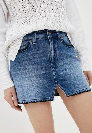 Юбка джинсовая Dondup. Цвет: голубой