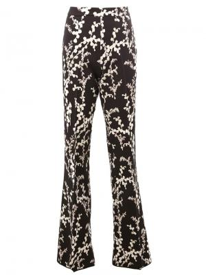 Расклешенные брюки с принтом Giambattista Valli. Цвет: чёрный