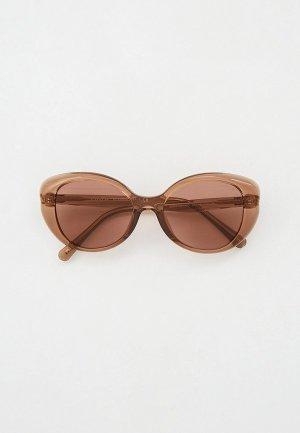 Очки солнцезащитные Coach. Цвет: коричневый