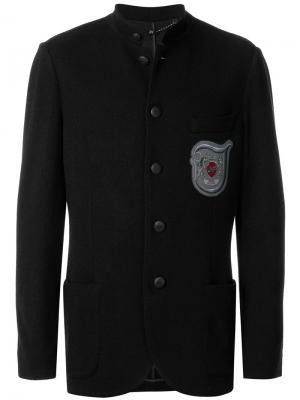 Пиджак с заплаткой логотипом Jo No Fui. Цвет: чёрный