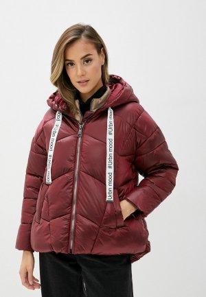 Куртка утепленная B.Style. Цвет: бордовый