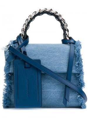 Джинсовая сумка через плечо Elena Ghisellini. Цвет: синий