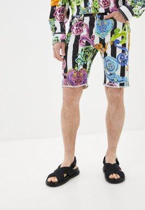 Шорты джинсовые Versace Jeans Couture. Цвет: разноцветный