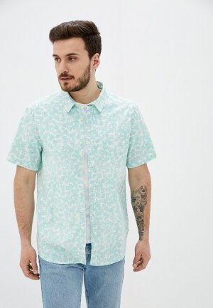 Рубашка Quiksilver. Цвет: бирюзовый