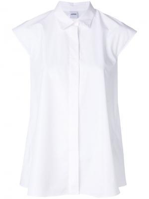 Рубашка с короткими рукавами Aspesi. Цвет: белый