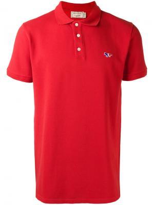 Рубашка-поло узкого кроя Maison Kitsuné. Цвет: красный