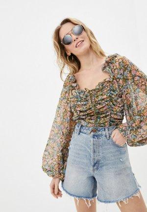 Блуза Free People. Цвет: разноцветный