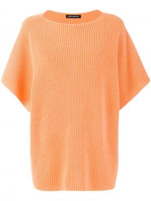 Топ с короткими рукавами Iris Von Arnim. Цвет: жёлтый и оранжевый