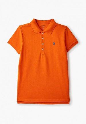 Поло Polo Ralph Lauren. Цвет: оранжевый