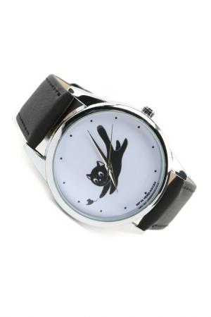 Часы Кошка и мышка MITYA VESELKOV. Цвет: черный