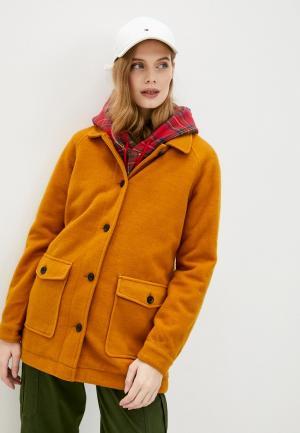 Пальто Roxy. Цвет: желтый