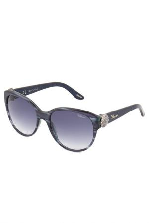 Солнцезащитные очки CHOPARD. Цвет: синий