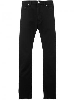 Слегка расклешенные джинсы с бахромой MSGM. Цвет: чёрный