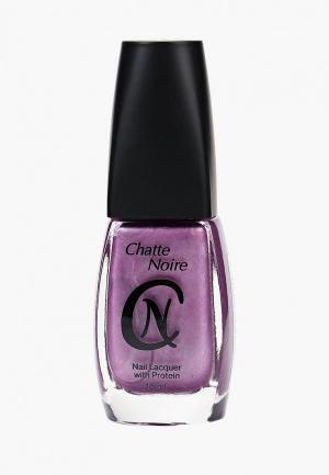 Лак для ногтей Chatte Noire. Цвет: фиолетовый