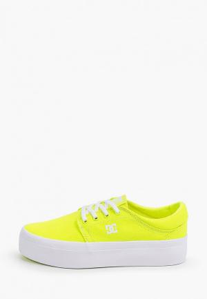 Кеды DC Shoes. Цвет: желтый