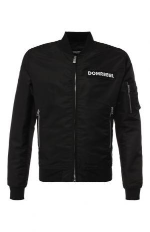 Бомбер на молнии с нашивками Dom Rebel. Цвет: черный
