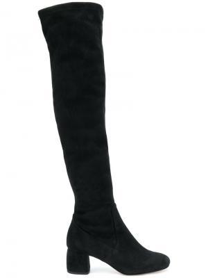 Ботфорты на блочном каблуке Anna F.. Цвет: чёрный