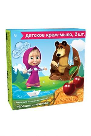 Детское крем-мыло Черешня и Пе Маша Медведь. Цвет: none