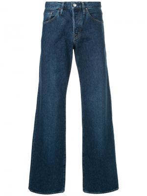 Широкие джинсы Minedenim. Цвет: синий